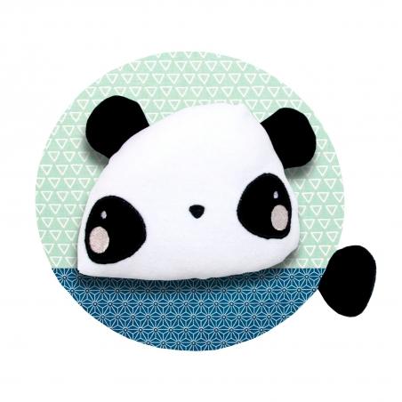 Trophée tête de panda en peluche personnalisé