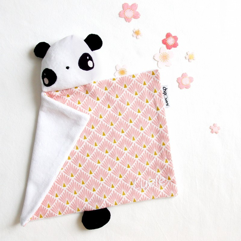 Doudou panda personnalisé